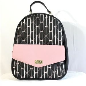 Luv Betsey By Betsey Johnson Black Stripe Backpack